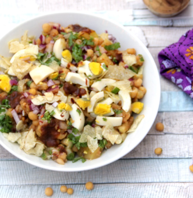 Chotpoti - Spicy White Pea Medley And Bengali 5 Spice - Spice Chronicles